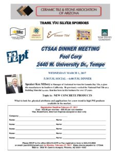 March Dinner Meeting @ Pool Corp   Tempe   Arizona   United States