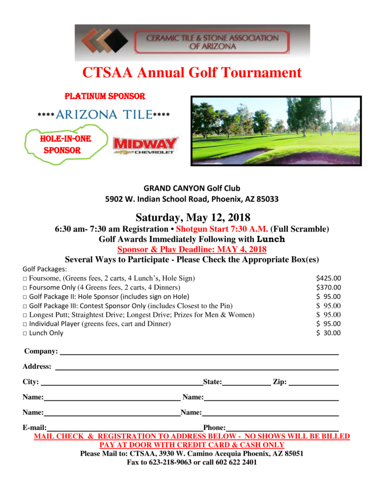 Golf Tournament @ Grand Canyon Golf Club | Phoenix | Arizona | United States