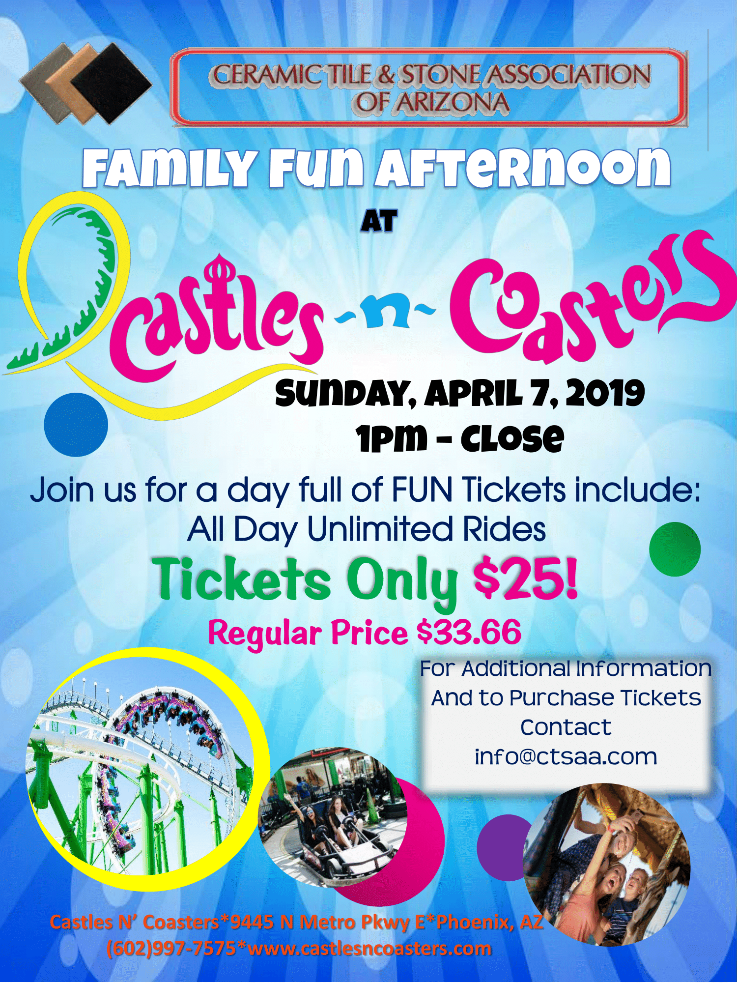 Family Fun Day At Castles & Coasters @ Castles & Coasters