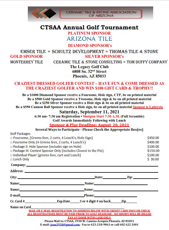 2021 GOLF TOURNAMENT @ The Legacy Golf Club